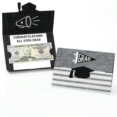 All Star Grad - Graduation Party Money Holder Cards - Set of 8
