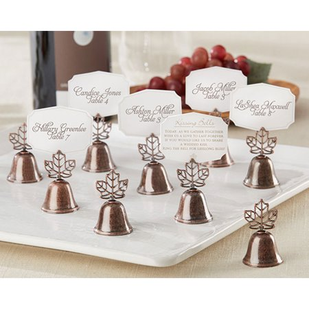 Fall Leaf Kissing Bell Place Card Holders (Set of 24)