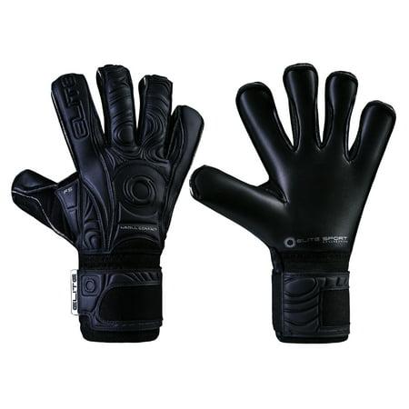 Elite Black Solo Goalie Glove, Size 6