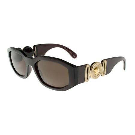Versace VE4361 388/73 TRANSPARENT RED Irregular Sunglasses (Versace Eyewear)