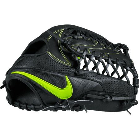 "Nike BF1724 MVP Edge 12.5"" Youth Post-Web Baseball Fielding Glove, Black/Volt, Right-Handed Thrower"