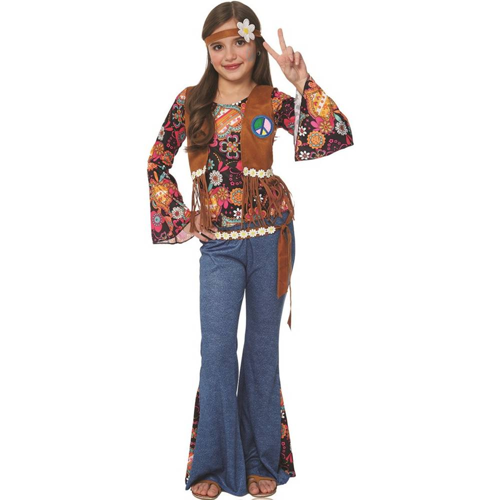 Peace Out Hippie Kids Costume