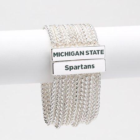 Michigan State Spartans Women's Jolie Bracelet - Silver - No Size Silver Michigan Quarters