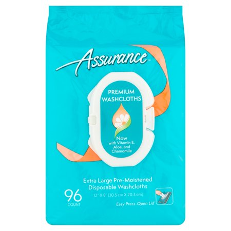 Assurance Premium Disposable Washcloths  96 Ct