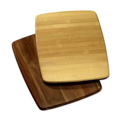 "Sabatier Reversible Acacia and Bamboo Cutting Board, 11"" x 14"""