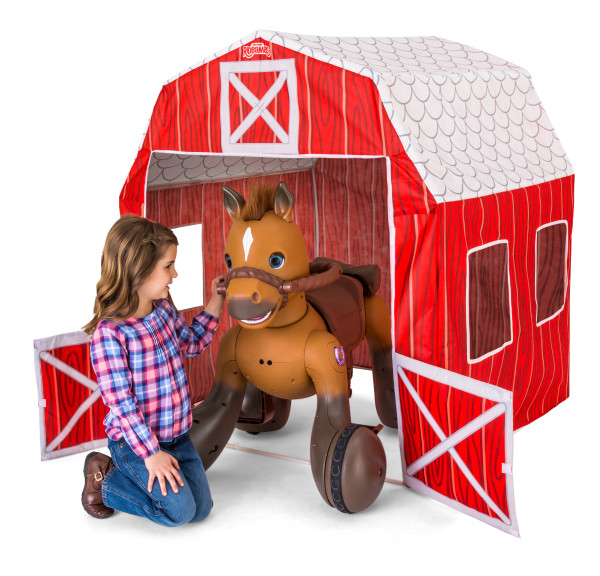 Kid Trax Rideamals Barn Play Tent