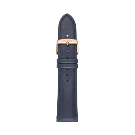 Fossil Women's 22mm Blue Leather Watch Strap ()