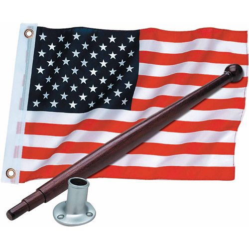 "Seachoice Marine U.S. 12"" x 18"" Flag Kit with 18"" Pole and 3/4"" Socket"
