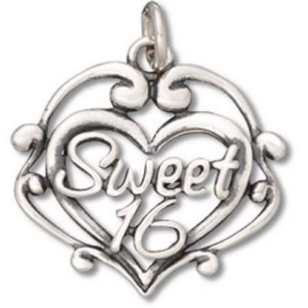 Scroll Heart - Sterling Silver 16