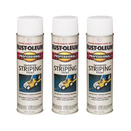 Exterior Stripes ((3 Pack) Rust-Oleum Professional Inverted Striping Paint White )