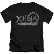 Xena Warrior Princess Battered Logo Little Boys Shirt