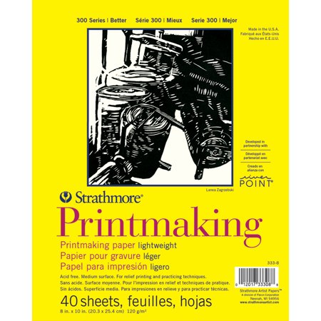 Pro Art Strathmore Printmaking Paper Pad 8 Inch By 11