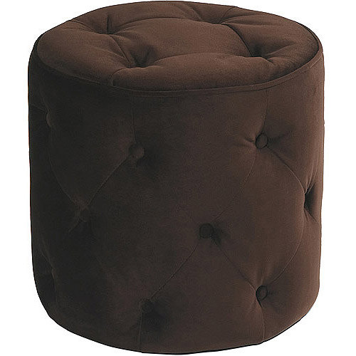 Curves Tufted Round Ottoman, Multiple Colors
