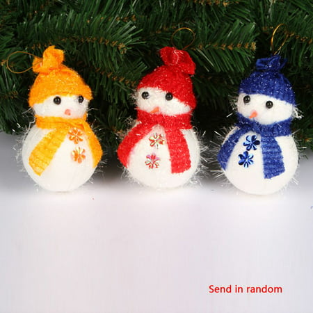 Flying Outlets Christmas Decoration X'masTree Decorations Snowman Doll Children's Gift Tiny Toy Random