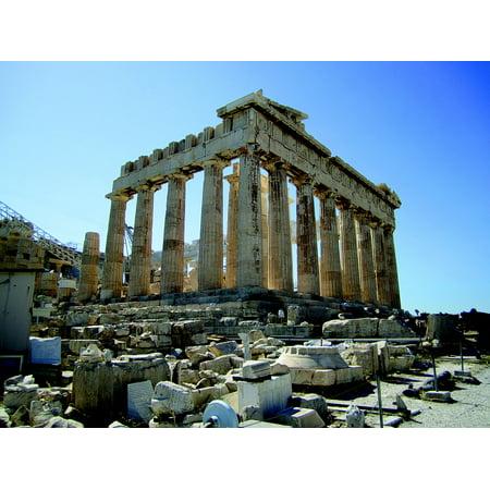 - LAMINATED POSTER Acropolis Greece Temple Parthenon Greek Athens Poster Print 24 x 36