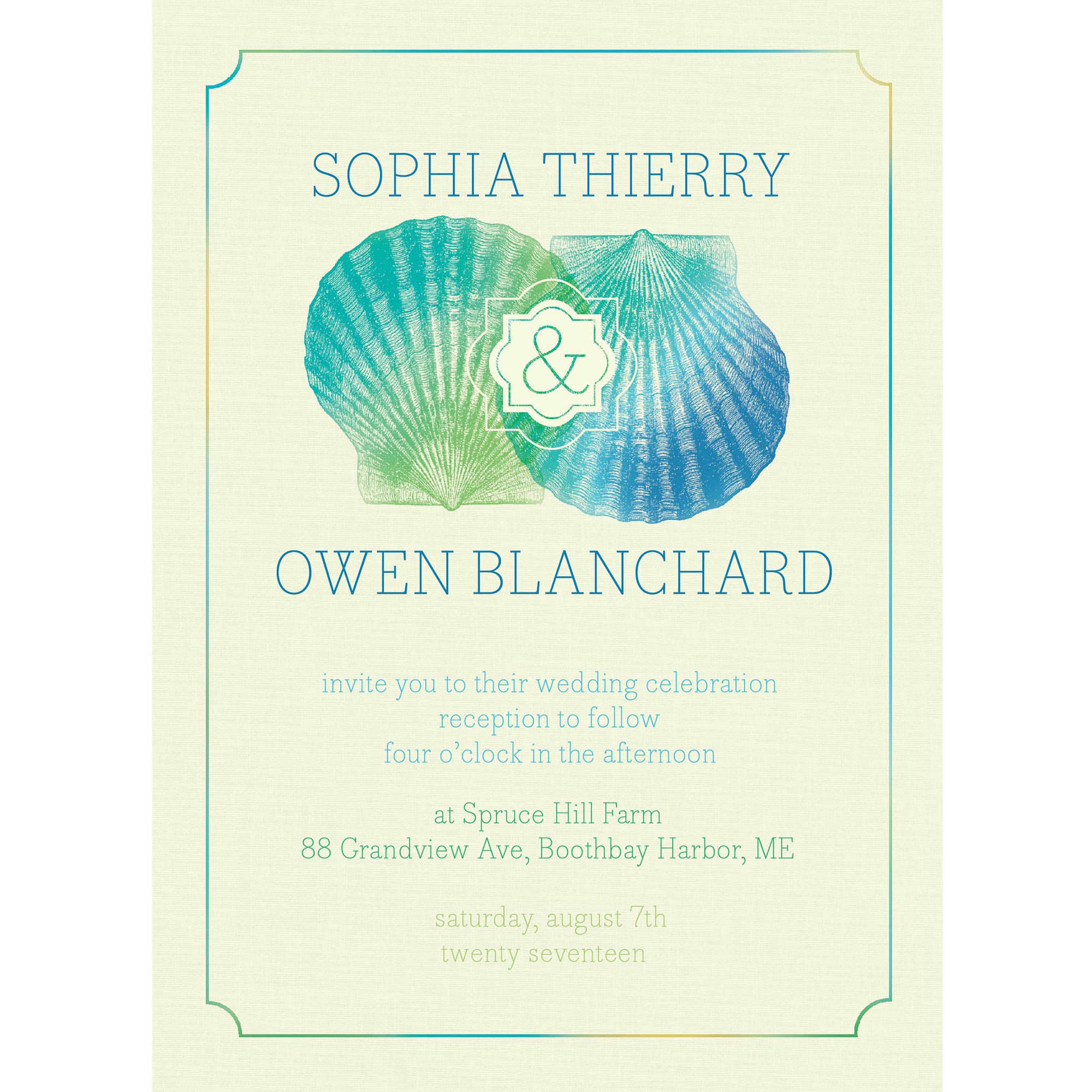 Tropical Suite Standard Wedding Invitation