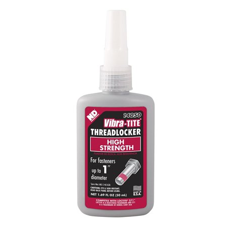 Vibra-TITE 140 Permanent High Strength Anaerobic Threadlocker, 50 ml Bottle, Red, Lock and seal threaded fasteners By VibraTITE