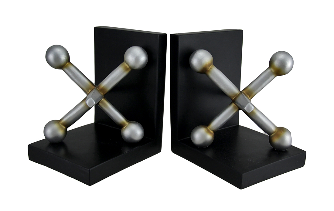 2 Pc. Giant Jacks Bookend Set by THREE HANDS CORP.