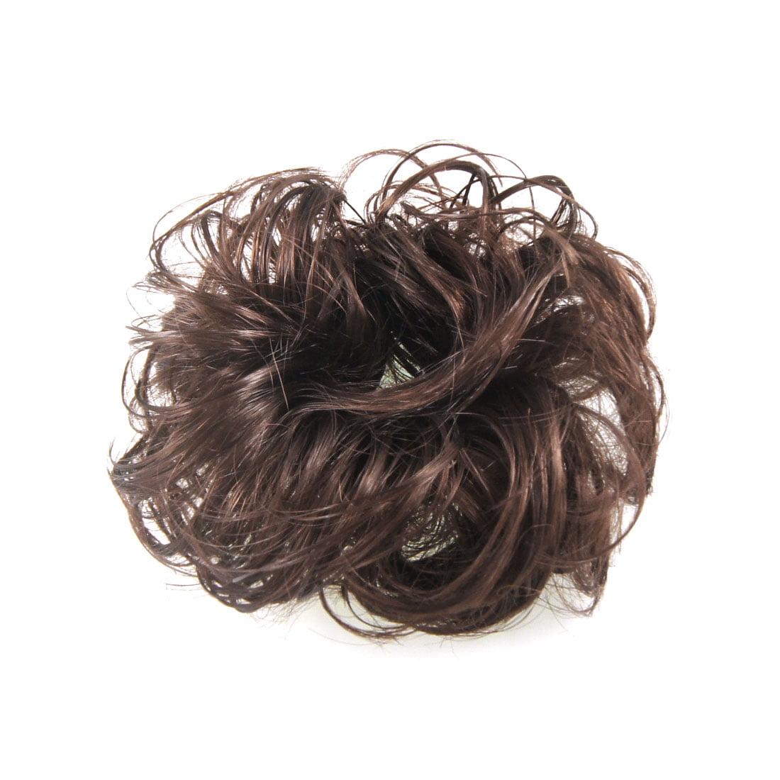 unique bargains light brown faux hair wedding elastic band curly
