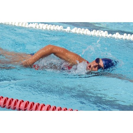 - Canvas Print Pool Swimmer Goggles Water Cap Training Fitness Stretched Canvas 10 x 14