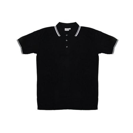 - Men's Black Knit Pullover Golf Polo Shirt - Large