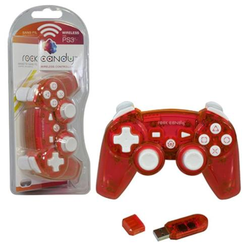 PDP PlayStation 3 Rock Candy Wireless Controller, Red