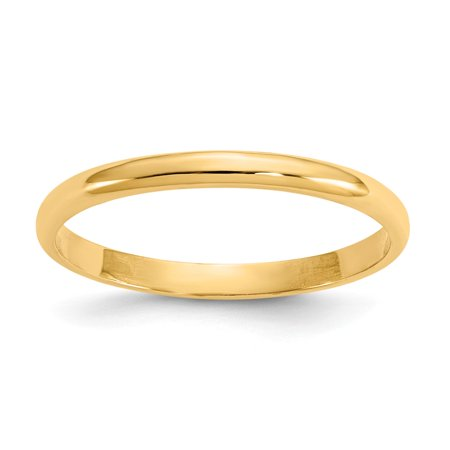 - 14k Yellow Gold Polished Baby Ring - .8 Grams
