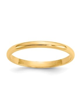 596a9b0cb Product Image 14k Yellow Gold Polished Baby Ring - .8 Grams