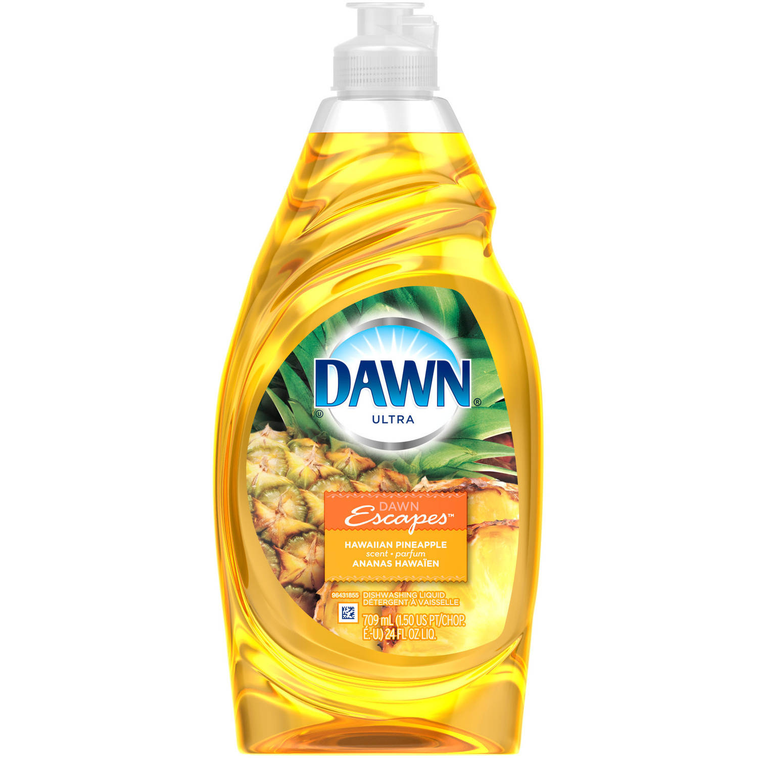 Dawn Ultra Hawaiian Pineapple Scent Dishwashing Liquid, 21.6 fl oz