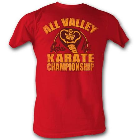 Karate Kid Men's  New Cobra Kai T-shirt Cherry Tri Blend (Kami Tank)
