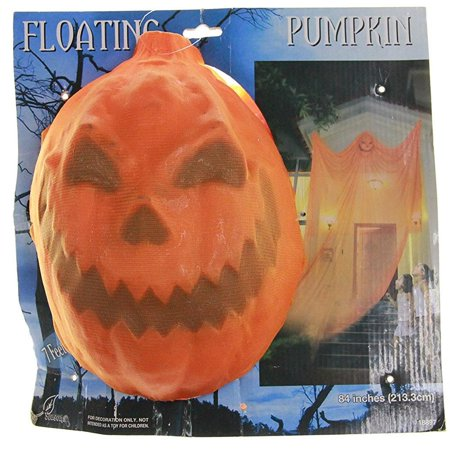 Hanging Ghost Floating Pumpkin Halloween Decoration Indoor/Outdoor Seasons 18035
