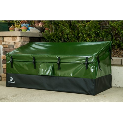YardStash Solutions Outdoor Storage 150 Gallon Plastic Deck Box by