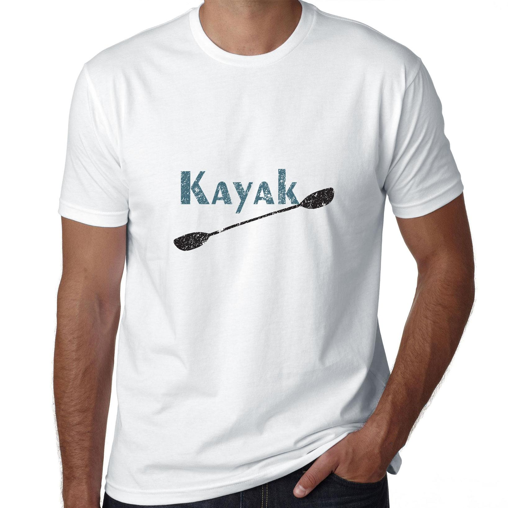 Simple Kayak with Kayaker Paddle Graphic Men's T-Shirt