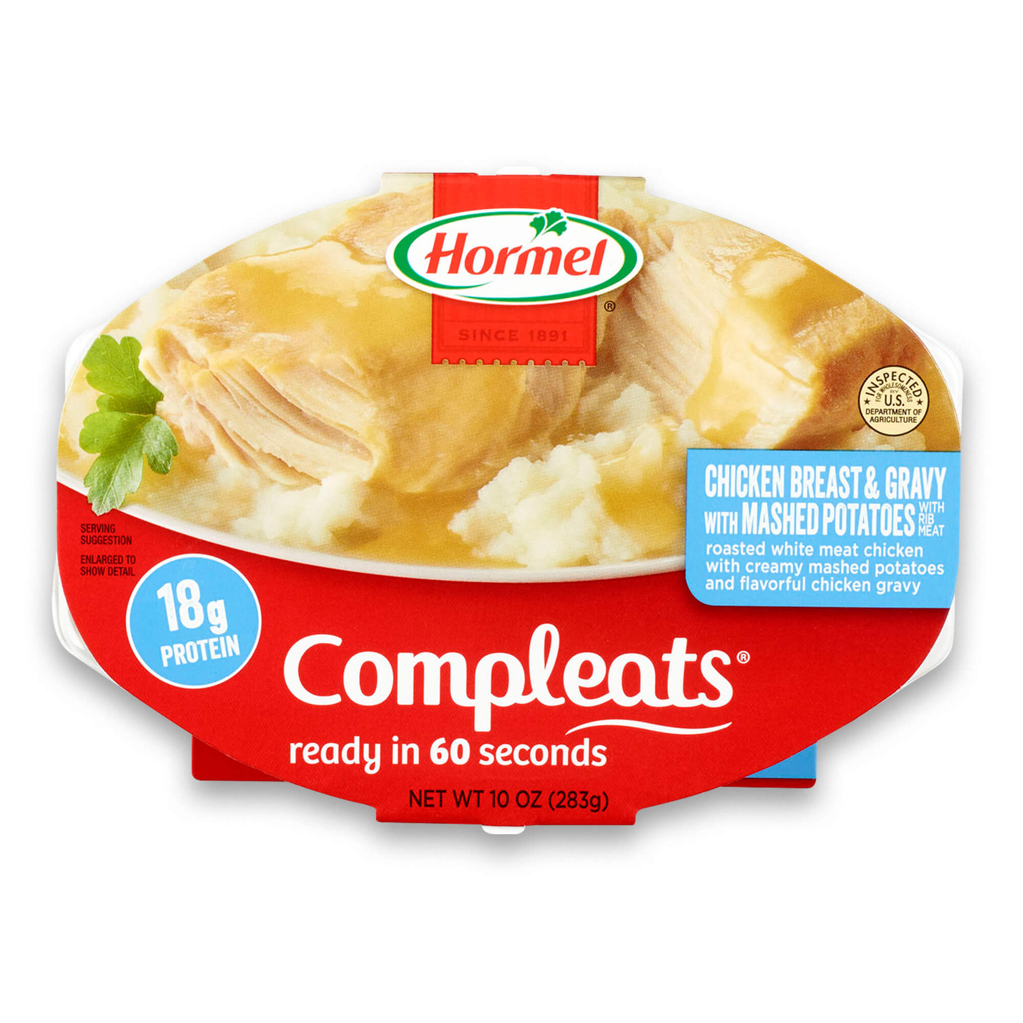 Hormel Compleats Chicken Breast with Rib Meat and Mashed Potatoes with Gravy, 9.5 Ounce