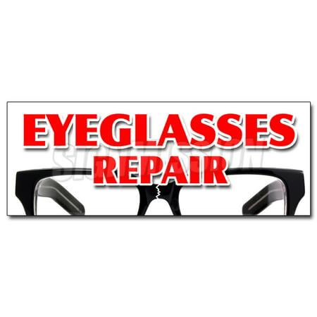 Eyeglass Repair Decal Sticker Optometrist Eye Exam Dr Doctor Examination