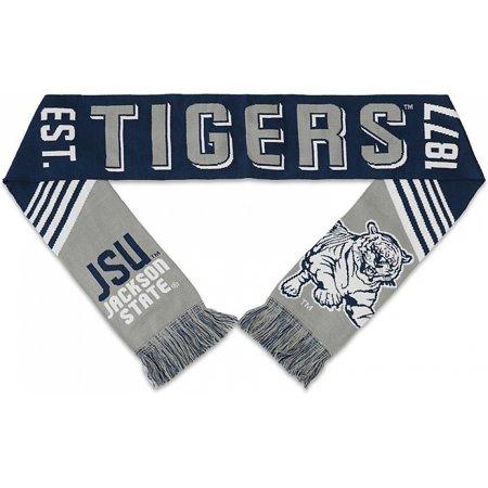 Big Boy Jackson State Tigers S4 Mens Knit Scarf [Navy Blue - 80
