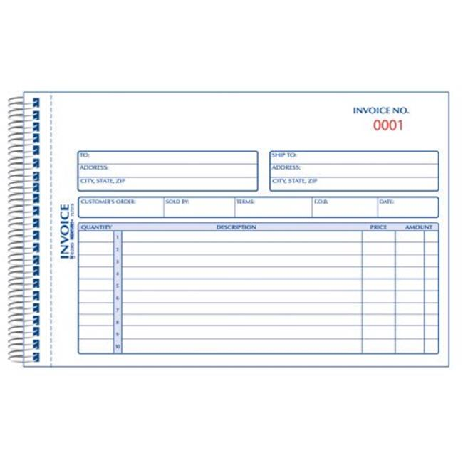 Carbonless Duplicate Invoice Book 5-0.5 x 7-0.87 in. by CoolCrafts
