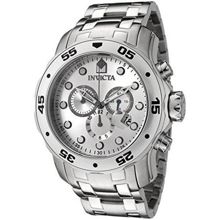 Invicta Mens Pro Diver 0071 Silver Stainless-Steel Swiss Quartz Fashion Watch