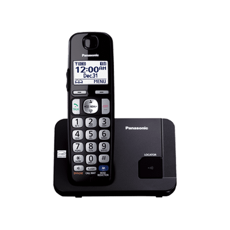 Panasonic Expandable Cordless Phone with Large Keypad, Black