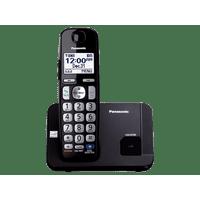 Panasonic Expandable Cordless Phone with Large Keypad, Black