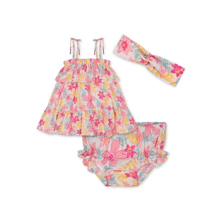 Jessica Simpson Baby Girl Tiered Top & Shorts Outfit, 2pc set