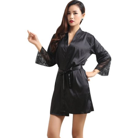 65eda7142 EFINNY - EFINNY Women Summer Satin Sexy Sleepwear Robes - Walmart.com