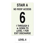INTERSIGN NFPA-PVC1812(A1N6) NFPASgn,StairIdA,Floors Served 1 to 6 G0263877