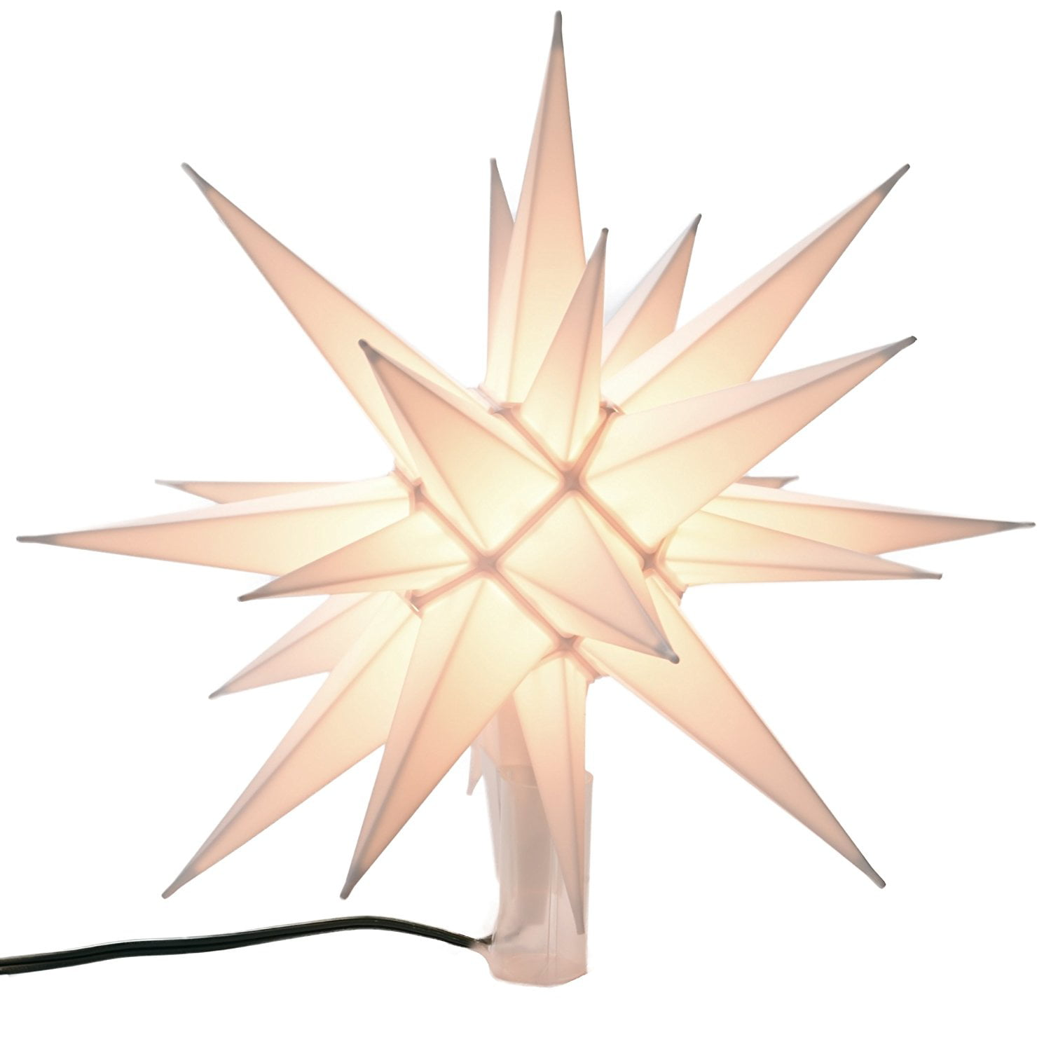12 moravian startree topper perfect finishing touch to your tree by moravain ship from us walmartcom - Lighted Christmas Tree Toppers