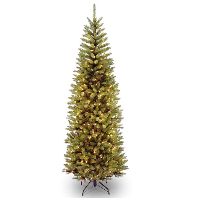 National Tree KW7-300-70 7 ft. Kingswood Fir Pencil Hinged Tree wth 300 Clear Lights