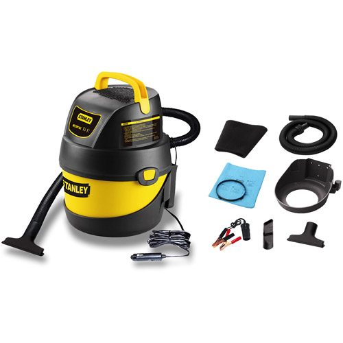 Stanley 1-gallon 12V DC Hang-Up wet dry vacuum