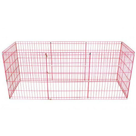 - Pink 36 Tall Dog Playpen Crate Fence Pet Kennel Play Pen Exercise Cage -8 Panel