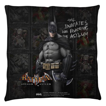 Trevco Bm2665 Plo3 20X20 Batman Arkham Asylum Inmates Throw Pillow  White   20 X 20 In