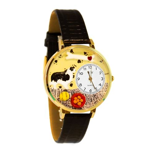 Whimsical Gifts Border Collie Watch in Gold (Large) - image 1 of 1