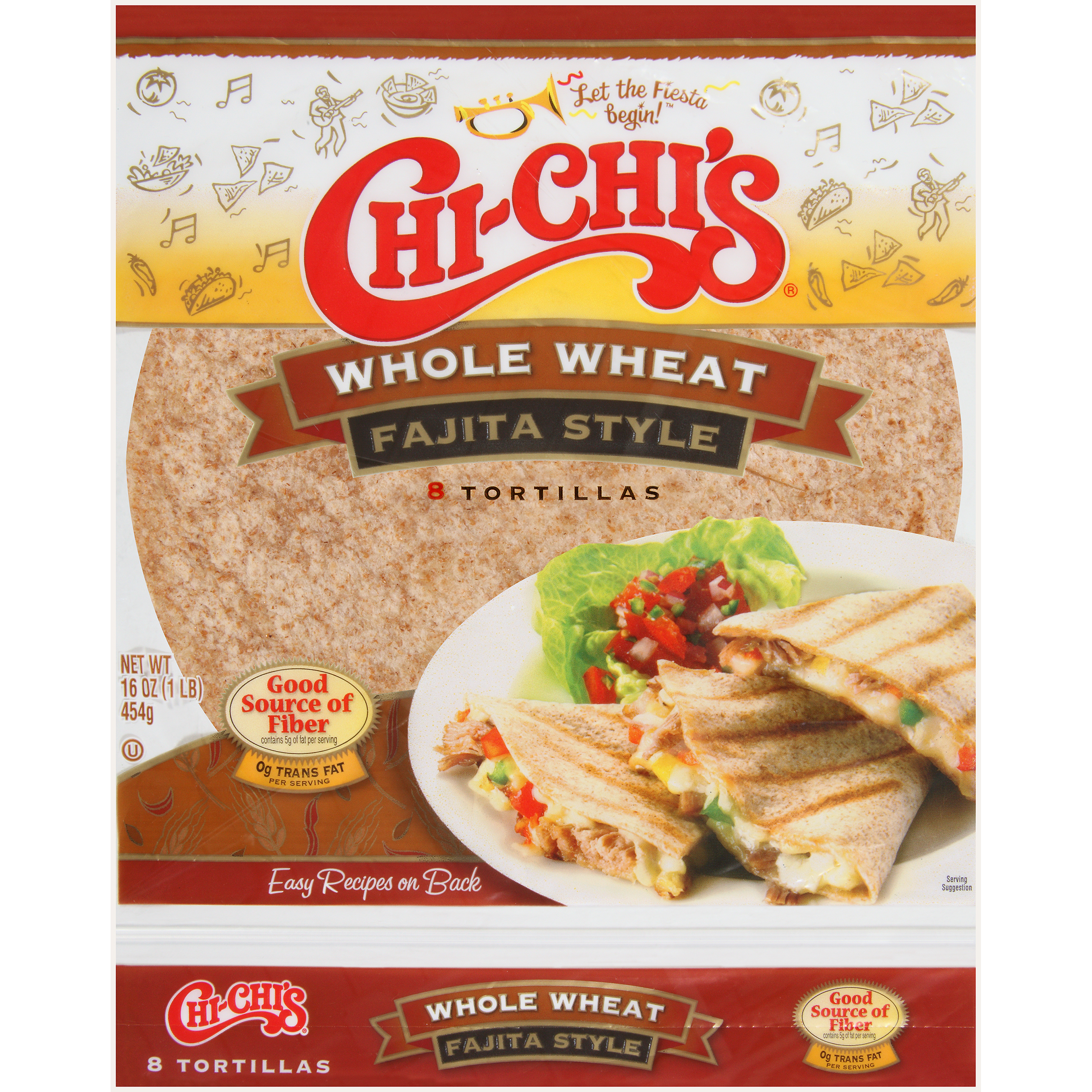 Chi-Chi's Whole Wheat Tortillas Fajita Style 8 CT by Hormel Food Sales, LLC